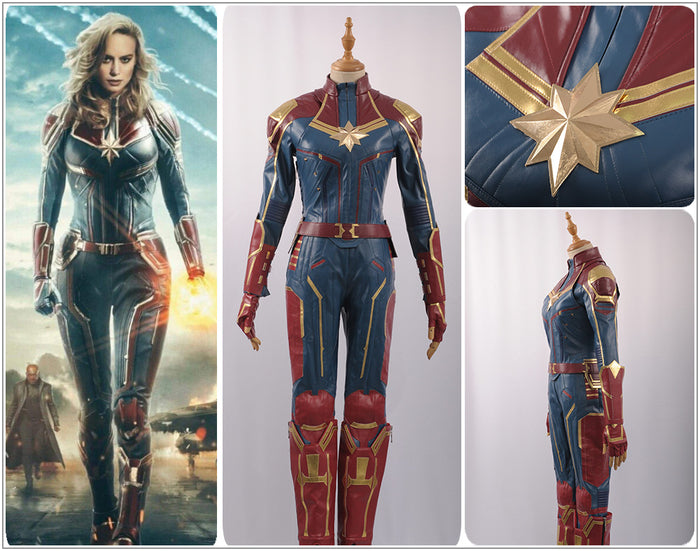 In Stock Marvel Captain Marvel Avengers Carol Danvers Ms. Marvel Superhero Cosplay Costume Female Adult