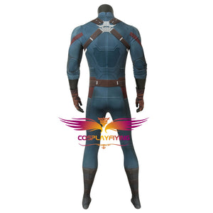 Marvel Comics Avengers 3: Infinity War Captain America Steve Rogers Jumpsuit Cosplay Costume for Halloween Carnival