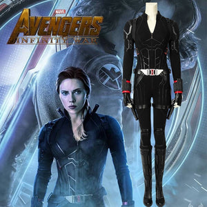 Marvel Comics Avengers 4 Endgame Black Widow Natasha Romanoff Cosplay Costume for Halloween Carnival