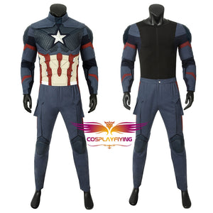 Marvel Comics Avengers 4 Endgame Steven Rogers Captain America Cosplay Costume Version C for Halloween Carnival