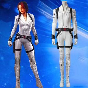 Marvel Comics Black Widow Natasha Romanoff White suit Cosplay Costume Version A for Halloween Carnival