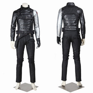 Marvel Comics Captain America 2: Winter Soldier Bucky Barnes Cosplay Costume Halloween Carnival