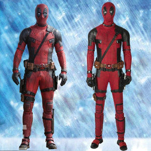 Marvel Comics Deadpool 2 Wade Wilson Cosplay Costume Version C for Halloween Carnival