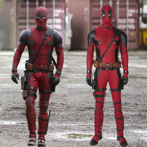 Marvel Comics Deadpool Wade Wilson X-Men Cosplay Costume Full Set for Halloween Carnival