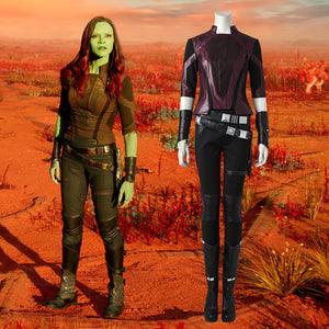 Marvel Comics Guardians of the Galaxy 2 Gamora Fancy Suit Cosplay Costume Full Set for Halloween Carnival