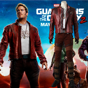 Marvel Comics Guardians of the Galaxy 2 Star Lord Peter Quill Fancy Suit Jacket Short Version Cosplay Costume