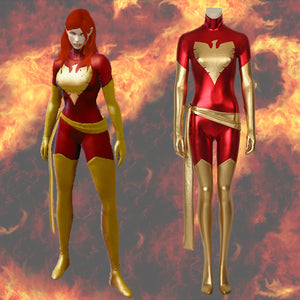 Marvel Comics X-Men White&Dark Phoenix Jean Grey Summers Jumpsuit Cosplay Costume for Halloween Carnival