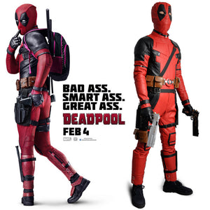 Marvel Deadpool Wade Wilson X-Men Jumpsuits Cosplay Costume For Adult