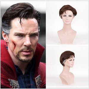 Marvel Doctor Strange Stephen Strange Cosplay Wig Cosplay Prop for Boys Adult Men Halloween Carnival Party