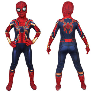Marvel Kids Cosplay Child Size Avengers: Endgame Iron Spiderman Peter Parker Jumpsuit Cosplay Costume