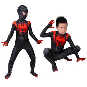 Marvel Kids Cosplay Child Size Spider-Man: Into the Spider-Verse Miles Morales Jumpsuit Cosplay Costume