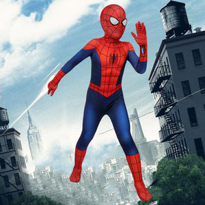 Marvel Kids Cosplay Child Size Ultimate Spider-Man Season 1 Peter Parker Jumpsuit Cosplay Costume