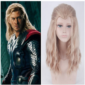 Marvel Movie Avengers 2: Age of Ultron Thor Odinson Blonde Curly Cosplay Wig Cosplay Prop for Boys Adult Men Halloween Carnival Party