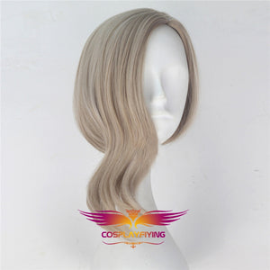 Marvel Movie Captain Marvel Avengers Carol Danvers Blond Cosplay Wig Cosplay Prop for Girls Adult Women Halloween Carnival Party