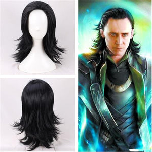 Marvel Movie The Avengers 3: Infinity War Thor Loki Balck Cosplay Wig Cosplay Prop for Boys Adult Men Halloween Carnival Party