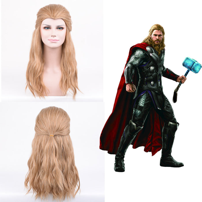 Marvel Movie The Avengers Thor Odinson Cosplay Wig Cosplay Prop for Boys Adult Men Halloween Carnival Party