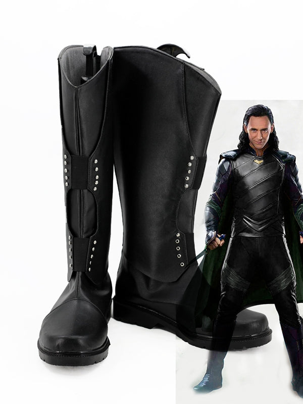Marvel Movie Thor: Ragnarök Loki Laufeyson/Odinson Cosplay Shoes Boots Custom Made for Adult Men and Women Halloween Carnival