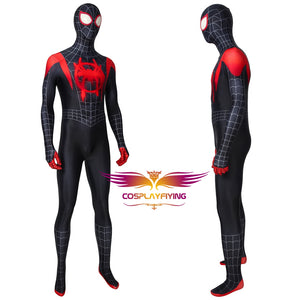 Marvel Spider-Man: Into the Spider-Verse Miles Morales Cosplay Costume Full Set for Halloween Carnival