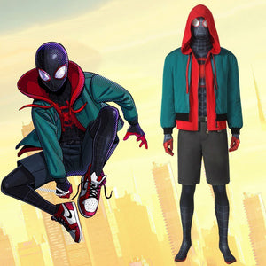Marvel Film Spider-Man: Into the Spider-Verse Miles Morales Jumpsuit Hoodie for Halloween Carnival Simple Version