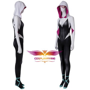 Marvel Spider-Man: Into the Spider-Verse Spider-Gwen Gwen Stacy Jumpsuit Cosplay Costume for Halloween Carnival