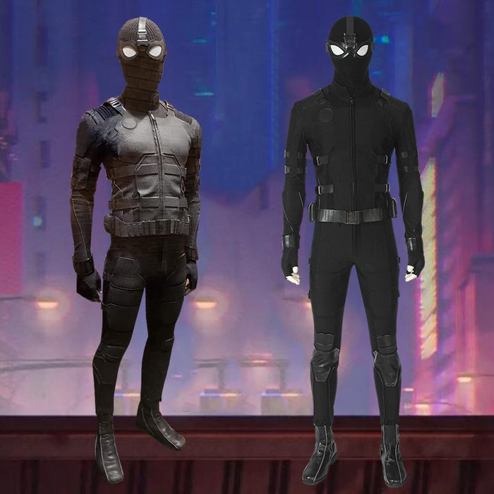 Marvel Spiderman Far From Home Avengers Stealth Suit Spider-man Noir Cosplay Costume for Halloween Carnival