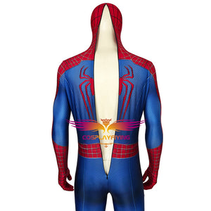 Marvel The Amazing Spider-Man 2  Spiderman Peter Parker Jumpsuit Avengers Cosplay Costume for Halloween Carnival