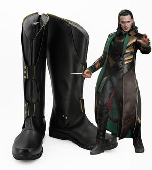 Marvel Thor: The Dark World Loki Cosplay Shoes Boots Custom Made for Adult Men and Women Halloween Carnival