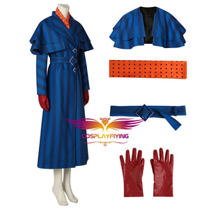 Mary Poppins Returns Mary Poppins Julie Andrews Edwards Costume Movie Cosplay Costume for Halloween Carnival