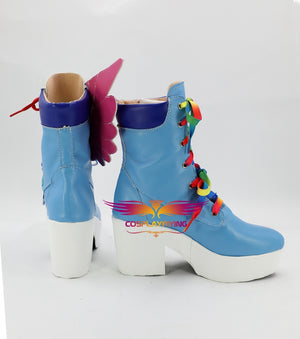 Masked Rider Kamen Rider Saiba Nico Cosplay Shoes Boots Custom Made for Adult Men and Women Halloween Carnival