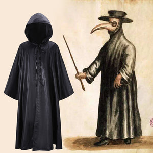 Movie Season of the Witch Doctor Schnabel Cosplay Costume Plague doctor Black Protective Clothing