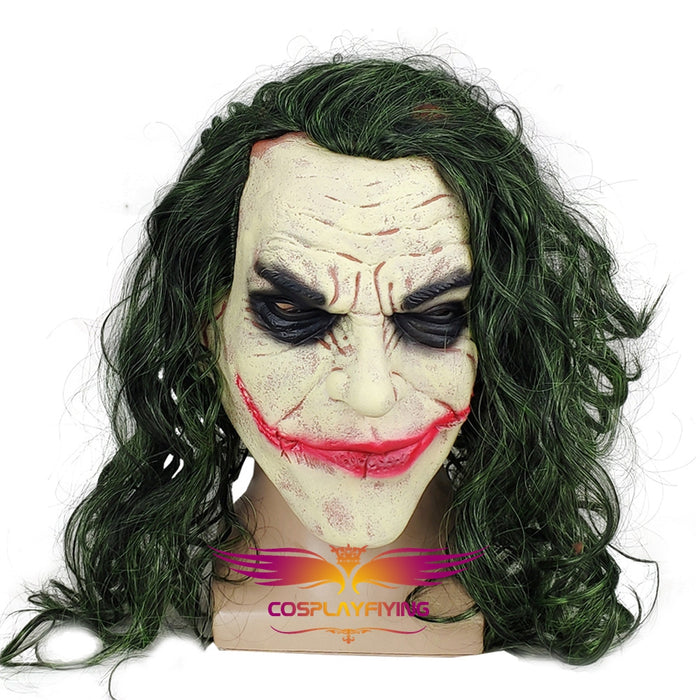 Movie Batman: The Dark Knight Suicide Squad Horror Clown The Joker Cosplay Wig With Mask Cosplay for Boys Adult Men Halloween Carnival