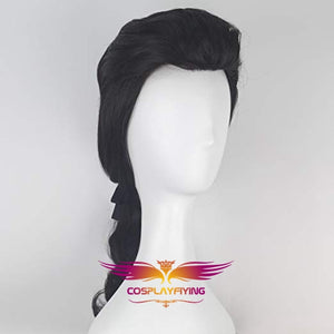 Movie Beauty and The Beast Prince Gaston Black Short Cosplay Wig Cosplay for Adult Men Halloween Carnival