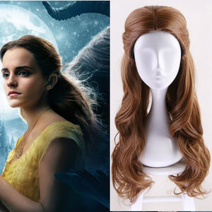 Movie Beauty and the Beast Princess Belle Long Wavy Cosplay Wig Cosplay for Adult Men Halloween Carnival
