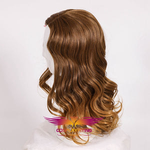 Movie Harry Potter Hermione Jean Granger Gradient Brown Curly Cosplay Wig Cosplay Prop for Girls Adult Women Halloween Carnival Party