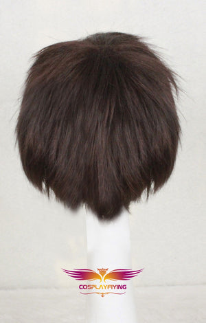 Movie Harry Potter and the Sorcerer's Stone Harry Potter Dark Brown Short Cosplay Wig Cosplay Prop for Boys Adult Men Halloween Carnival Party