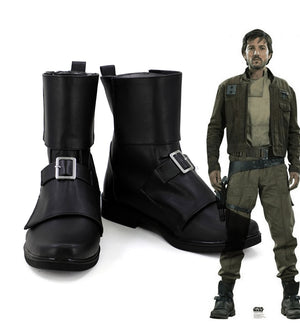 Movie Rogue One: A Star Wars Story Cassian Andor Cosplay Shoes Boots Custom Made for Adult Men and Women Halloween Carnival
