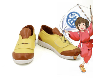 Movie Spirited Away Ogino Chihiro Cosplay Shoes Boots Custom Made for Adult Men and Women Halloween Carnival