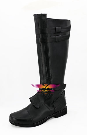Movie Star Wars Anakin Skywalker Darth Vader Cosplay Shoes Boots Custom Made for Adult Men and Women Halloween Carnival