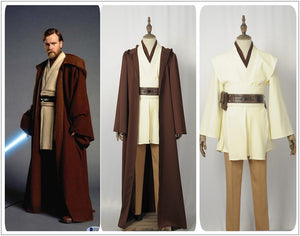 Movie Star Wars Obi-Wan Kenobi Superhero Cosplay Costume Custom Made for Mael Adult Men Halloween Carnival Adult Outfit