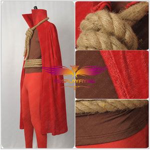 Movie Watchmen Hooded Justice Cosplay Costume Custom Made for Adult Men Carnival Halloween Red Cloak Pants