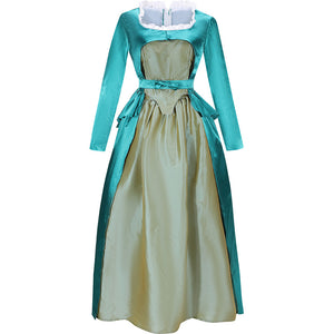 Musical Rock Opera Hamilton Eliza Schuyler Hamilton Satin Stage Dress Concert Cosplay Costume Custom Women Green Gown Fancy