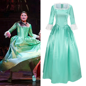 Musical Rock Opera Hamilton Elizabeth Schuyler Stage Dress Concert Cosplay Costume Custom Made Carnival Halloween