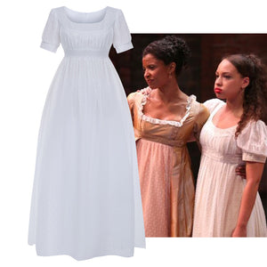 Musical Rock Opera Hamilton Peggy White Dress Cosplay Costume Carnival Halloween