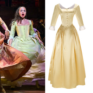 Musical Rock Opera Hamilton Peggy Stage Dress Concert Cosplay Costume Custom Made Carnival Halloween