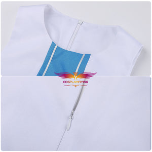 New SAO Sword Art Online 2 Asuna Yuuki Cosplay Costume Outfit