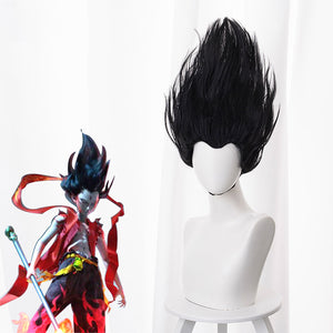 New Movie NE ZHA Nezha Black Curls Cosplay Wig Cosplay for Boys Adult Men Halloween Carnival Party