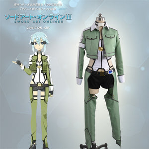 New Sword Art Online Phantom Bullet Asada Shino Cosplay Costume Women Adult Outfit White Scarf