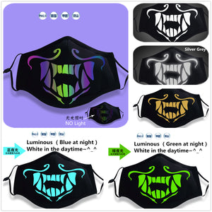 LOL League of Legends KDA Cosplay Akali Girl Boy Luminous Mask K/DA Mouth-muffle Cosplay Accessories