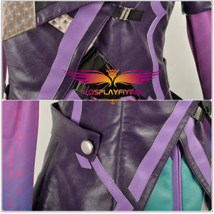 OW Overwatch Hacker Sombra Nanosuit Women Female Uniform Outfit Cosplay Costume For Adult Party Halloween Carnival