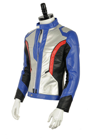 OW Overwatch Soldier 76 PU Leather Jacket Only Cosplay Costume For Adult Men Halloween Carnival